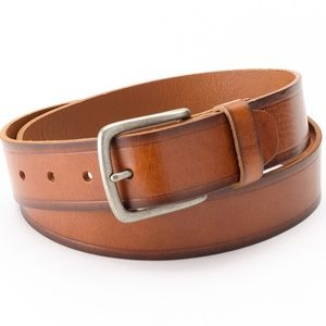 Levi's Genuine Leather Belt Bridle Heat-Crease